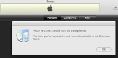 iTunes podcast directory not available in Malaysia?