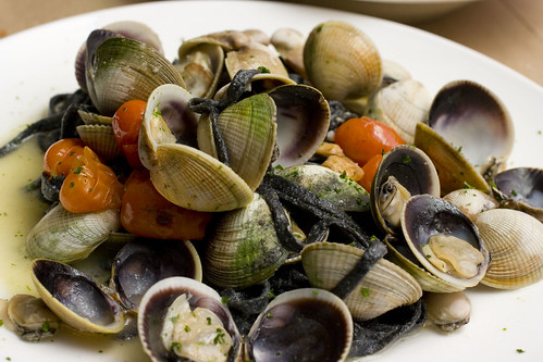 Squid Ink Taglioni with Clams