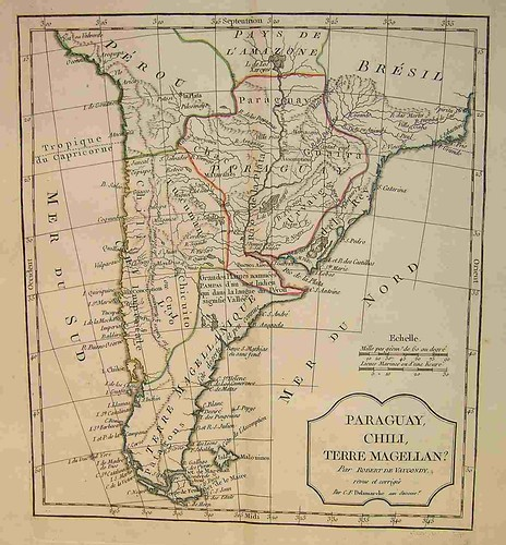 maps of paraguay. Historic map of PARAGUAY,