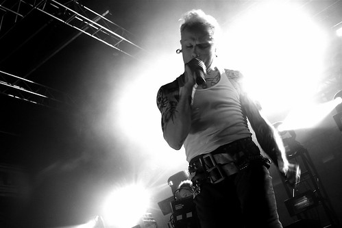 Keith Flint of THE PRODIGY breathes the pressure.