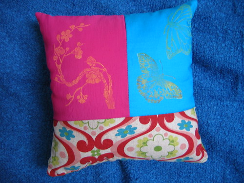 blossoms & butterflies pillow