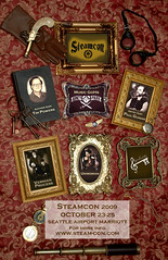 Official Steamcon poster (artvixn) Tags: poster book frames goggles telescope pistol convention glove brass compass gilt steampunk timpowers paulguinan unwoman vernianprocess sepiachord steamcon