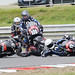 Wayne Ryan takes a tumble at Snetterton
