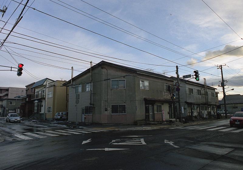 函館の交差点