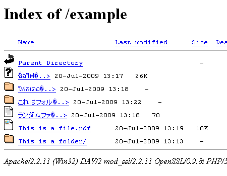 Original mod_autoindex style