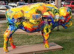 "Part of the ""Where the Painted Buffalo Roam"" exhibit, West Yellowstone, Montana (IMG_1680a) (Alaskan Dude) Tags: travel art buffalo montana wildlife westyellowstone paintedbuffalo wherethepaintedbuffaloroam"