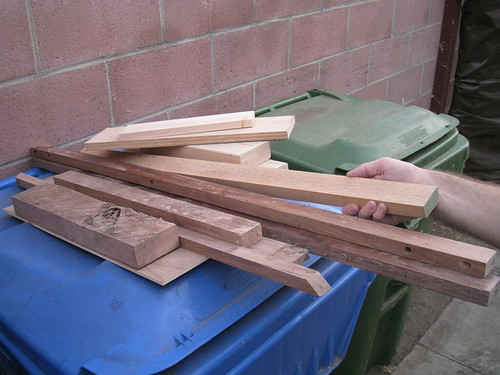 scrap wood, including walnut