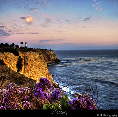 The Story (kennymuz) Tags: ocean flowers blue sunset wild lighthouse mountain point for los purple angeles you made story brandi tops vincente carlile kennymuz
