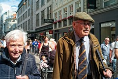 This is the modern world. (tim clements) Tags: street old people closeup copenhagen denmark couple kbenhavn  stergade