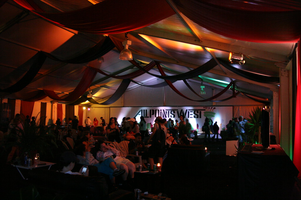 VIP refreshment tent at All Points West