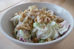 Leek-Apple-Walnut Salad