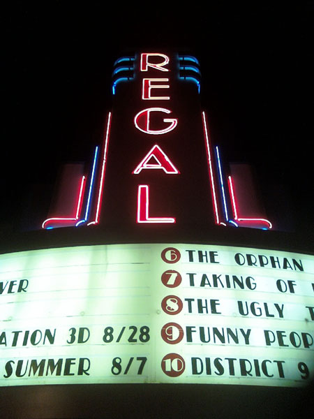 Regal Theater Sign (Click to enlarge)