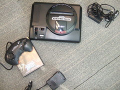 Sega Genesis - cables and system