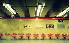 gone fishing (www.marcel-sauer.de) Tags: entwickeltundgescanntbeikleinemlabinmünchen processedandscannedatsmalllabinmunich cheapdmparadies400film roll:name=31072009no1 roll:number=22 revueflexac2 slr manual oldschool retro silver spiegelreflex asahismcpentaxm11750mm 50mm 17 asahi dof bokeh depthoffield wideopen bigaperture bokehwhores tube ubahn seats sitze light münchen munich diary tagebuch fun people marcelsauer germany deutschland portfoliomarcelsauer budapest ungarn hungary dmparadiesfilm400negativ dmdrugstoremunich film filmisnotdeaditjustsmellsfunny filmlovers analogfullframe analog grainisgood celluloid buyfilmnotmegapixels