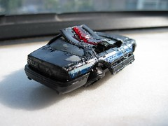 Crashed Matchbox Crown Vic