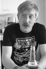 Macki (Magnus Bergstrm) Tags: portrait bw man film beer analog 35mm canon photo kodak sweden stockholm ae1 tmax moustache 400 pro epson 135 mustache canonae1 2009 kodaktmax400 perfection hgersten telefonplan v500 400tmy mikrofonvgen marjoh00
