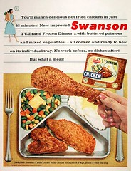 Early Swanson TV dinner ad