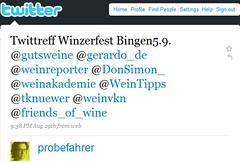 Umfrage: Twittreff Winzerfest Bingen am Rhein am 5.9. ab 19:00 Uhr