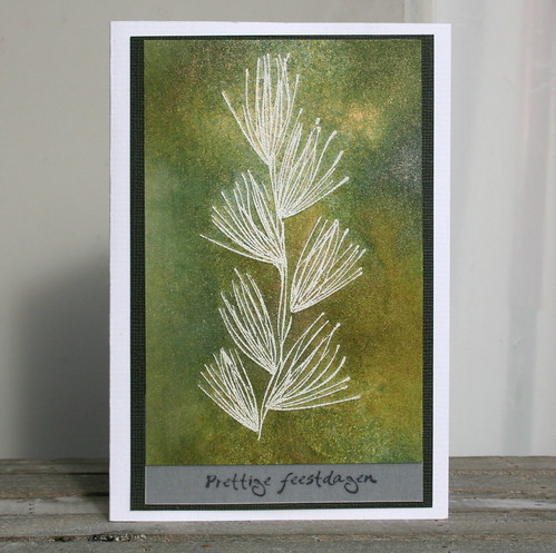 a distressed christmas card