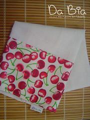 Cerejas (Da Bia) Tags: cherry handmade pano artesanato craft decorao saco copa cozinha cereja cerejas algodo sacaria panodeprato dabia biancasantana biasantana