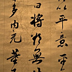 strings (steph_who) Tags: china art ink gallery shanghai chinese parchment brush kanji write calligraphy script