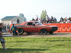 1973 Plymouth Cuda (blondygirl) Tags: auto car plymouth burnout cuda sprucegrove plymouthcuda burnoutcompetition cruisersofthepast grovecruise
