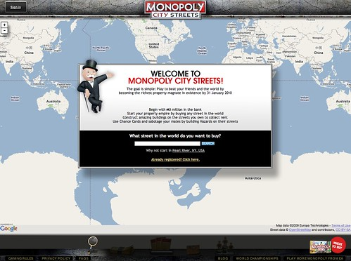 Google Monopoly Streets