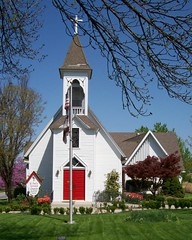 May 2008 sun (greenand5th) Tags: county street door city red building green church st catholic gothic churches places pauls jackson historic mo national missouri summit kansas wikipedia register prairie plains 5th episcopal built protestant lees prarie carpenter 1884 haefner 64063
