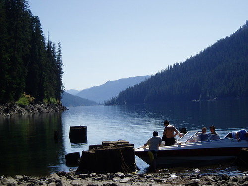 Lake Kachess view with boat