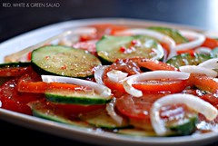 RED, WHITE & GREEN SALAD