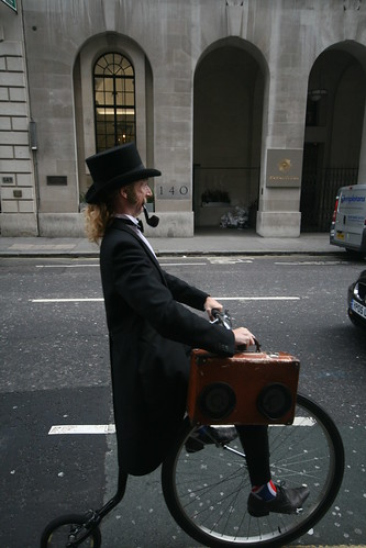 Street Performer on a Penny Farthing.
