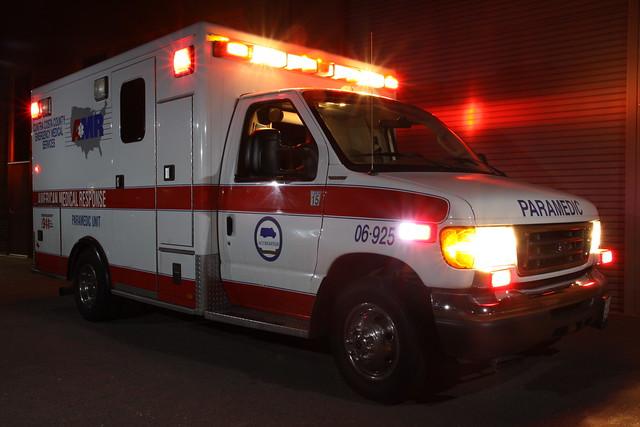bus ford long exposure ambulance medical american technician emergency paramedic emt response amr f350 strobist