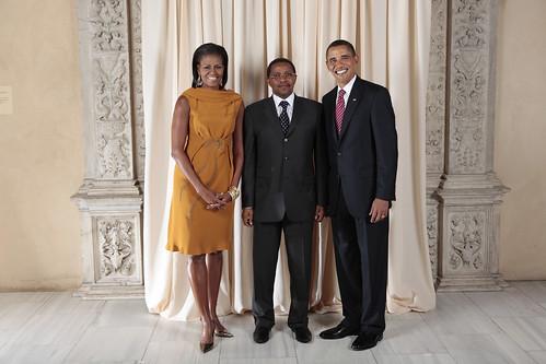 Tanzanian President Kikwete with the Obamas