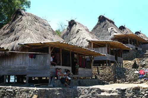 Ngadha Traditional Houses in Bena - Komodo, Indonesia
