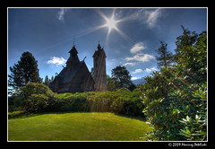 Vang stave church (Mariusz Petelicki) Tags: sun hdr karkonosze soce karpacz 3xp mariuszpetelicki wityniawang