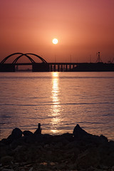 Just Started (glenndulay) Tags: beach sunrise canon bahrain mess glenn wesley juffair 2470 juststarted dulay minasalman 40d middleeastshuttersquad glennwesleydulay