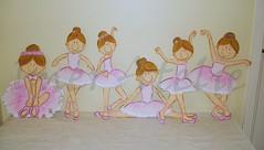 bailarinas essas com 50cm de altura (Imer atelie) Tags: pink 6 flores minas artesanato rosa moça rosas menina decoração parede pintura mdf colada uberaba bailarinas dançando balé sapatilha enfeita espacato imeratelie decoraçãoquartobebe
