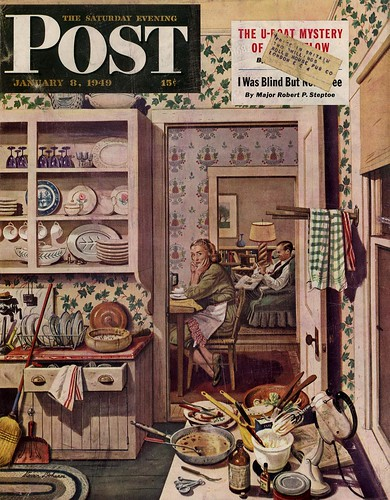 Jan 8 1949 POST cover, Stevan Dohanos
