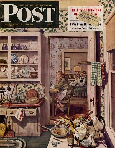 Jan 8 1949 POST cover, Stevan Dohanos