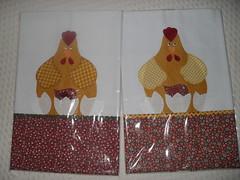 Pano de Prato (dinorahramos) Tags: galinha artesanato tecidos appliqu patchcolagem panodeprato