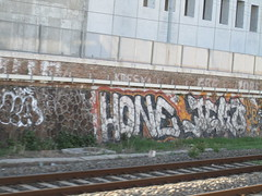 hone x jeko (srima oner) Tags: italy rome train graffiti tracks hone jeko