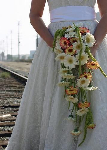 cascade wedding bouquet 6