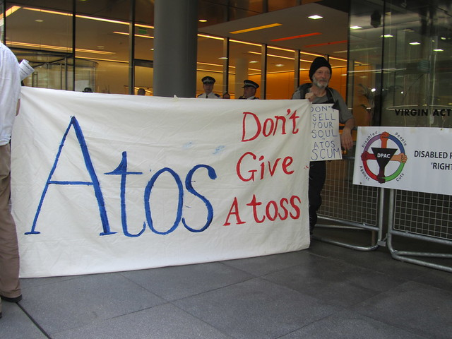 Atos dont give a toss banner