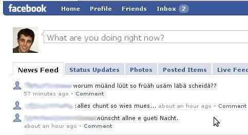 Facebook status zum nachdenken
