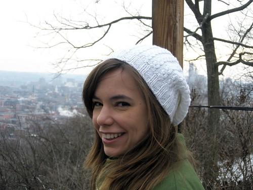 Slouchy mock cable hat