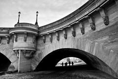 Pont Neuf (StylelaB) Tags: road street new city bridge winter people urban snow par