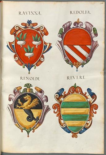 Familienwappen kleinerer Adelshäuser von Vicenza mit Buchstaben h