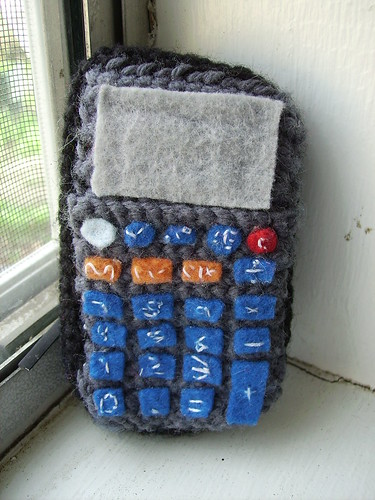 Crocheted Calculator