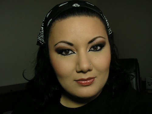 arabic eye makeup. Bronzed Arabic Smoky Eye