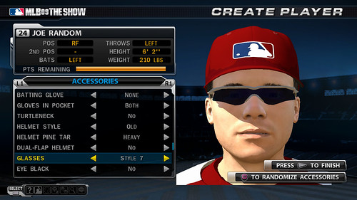 MLB 09 The Show screenshot - RTTS Create Player 2
